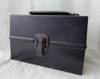 Vintage Black Box with Handle, Hach Chemical Testing Box