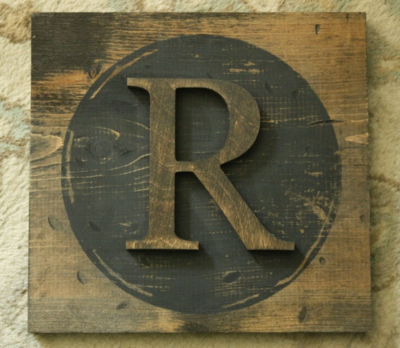 wood block letters items similar to large block typewriter letter r 25665