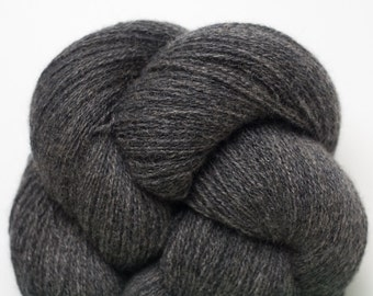 Lace Weight Recycled Cashmere Yarn, Charcoal Cashmere Lace Weight Recycled Yarn, 3655 Yards Available