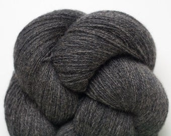 Charcoal Cashmere Lace Weight Recycled Yarn, 3655 Yards Available