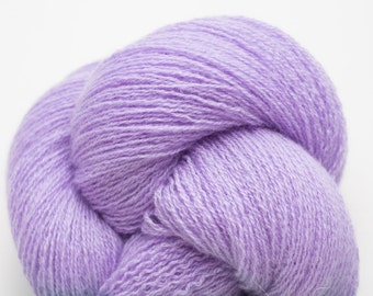 Pale Lavender Cashmere Lace Weight Recycled Yarn