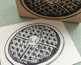 Buttered Waffle Rubber Stamp 3769