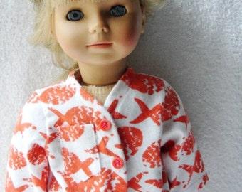 American Girl Doll Orange Fish Pajamas
