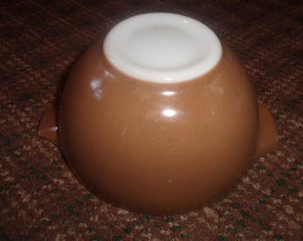 vintage pyrex small mixing nesting cinderella bowl colors brown 441