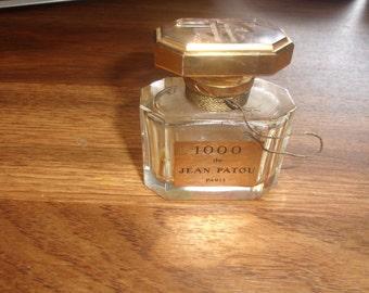 vintage perfume bottle 1000 de jean patou paris empty acid etched