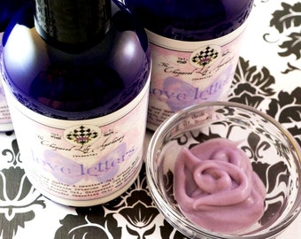 CLEARANCE Lotion - Love Letters – Hazelnut & Shea with Evening Primrose, Buckthorn, Jojoba, Glycerine, and Allantoin Hand or Body Lotion
