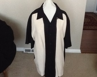 Vintage SHIRT Men's Large  100% Silk Made by Paradise Coves