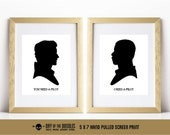 You Need A Pilot stormpilot finnpoe spacehusbands I love you I know set of two Fn2187 Dameron silhouette hand pulled screen prints geek gift