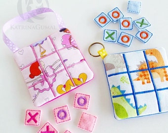 Tic Tac Toe - Kids Game - Travel Game - Quiet Game - Strategy Game - Stocking Stuffer - Gift for Kids