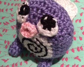 Handmade Crocheted Poliwag Toy from Pokemon GO