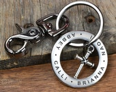Keychain Personalized Engraved Stainless Steel Keychain