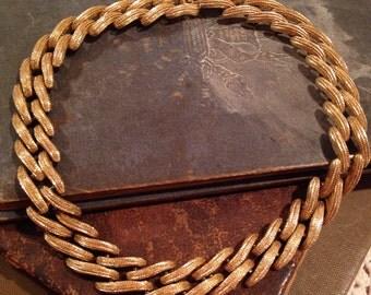 Vintage Chain Link MONET Choker