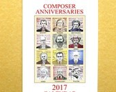 2017 music calendar ANNIVERSARIES of COMPOSERS