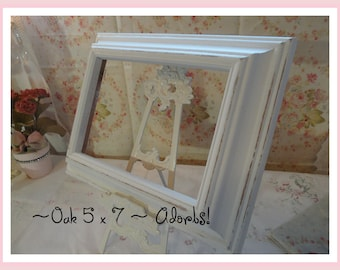 Lovely Oak Off White Picture Frame 5 x 7