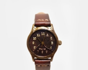 Vintage Retro Steampunk Personalized Engrave Handcraft Watch Handstitch Band / NoxS - Perfect Gift for Birthday and Anniversary