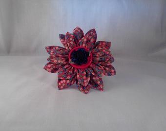 Flower Medallion Hair Clip