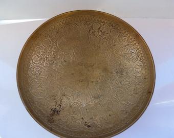 Vintage Brass Bowl Ornate Brass Bowl Decorative Boho Brass Bowl