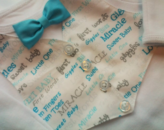 Infant Boys Hospital take me home with Vest and bow-tie boys clothing