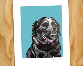 """8x10 Signed Print of """"Smudge"""" the Black Lab"""