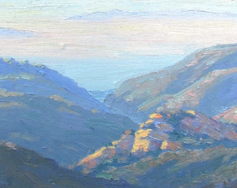 "Contemporary Plein Air Painting ""EARLY MORNING,Temescal Canyon"", California"