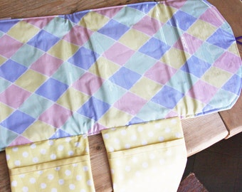 Diaper Changing Pad - Diapering on the Go - Pastel Diamonds