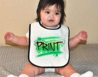 Custom Airbrushed Baby Bib | Print