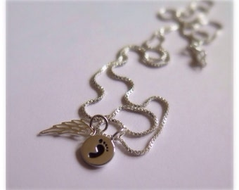 Miscarry Gift - Miscarriage Jewelry - Miscarrige Gift - Miscarriage Remembrance - Child Loss Necklace - Child Loss Charm - Angel baby Jewelr