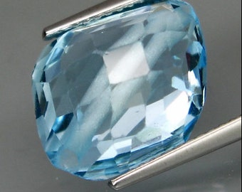 Very Odd and Unusual Drilled, Sky Blue Topaz, Fancy Shape Faceted Bead, 16 x 12 x 9 MM , 11.58 Carat