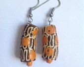 Brown & Orange African Earrings