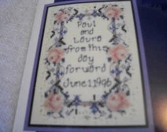 Wedding Sampler Counted Cross Stitch Kit