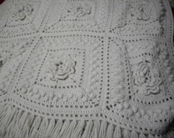 Ivory Crochet Afghan