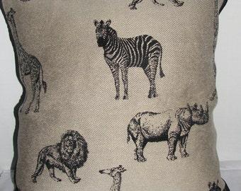 Safari Print Pillow Cover