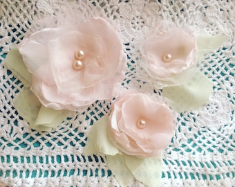Handmade Flowers, Julianas Shabby Flowers, Handmade Fabric Flowers, Wedding Flowers