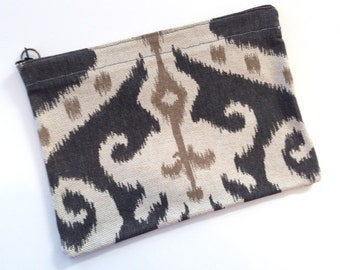 Grey and Tan Clutch