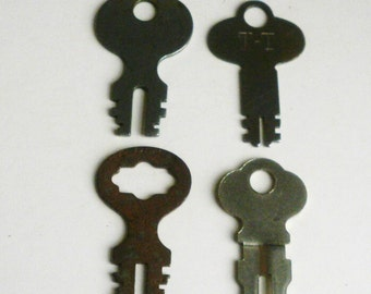 Four Old Flat Keys