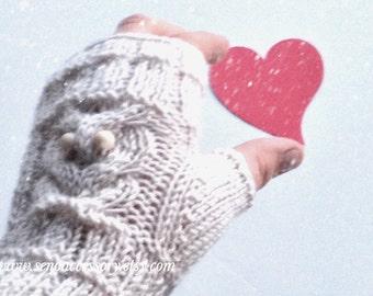 Beige Hand Knitted Fingerless Gloves Owl Gloves Women Gloves Winter Accessories Arm Warmers Gifts For Her /valentine fashion