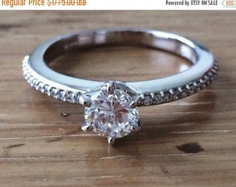 HUGESALE 1 Carat Diamond Solitaire -Diamond Engagement Ring- Round Diamond Ring- Fine Jewelry-BSK Designs-Diamond Band-Handcrafted Jewelry