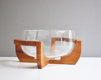 Vintage Gailstyn-Sutton Teak and Glass Salad Bowl