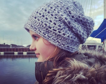 Slouchy beanie hat. Toddler, child, Teen, adult size. Uk seller.