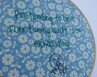 Functioning Adult Embroidery