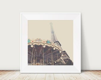 paris photograph eiffel tower photograph carousel photograph travel photography paris decor eiffel tower print carousel print