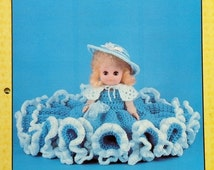 """20%OFF Td Creations MISTY 13"""" Bed Doll - Crochet Doll Dress Clothes Clothing Pattern"""