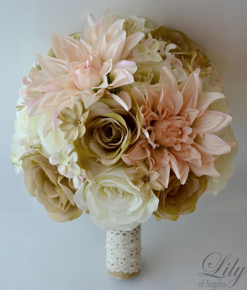 Silk flowers sarasota silk wedding bouquets u flowers we are the piece package silk flowers wedding bridal party bouquets mightylinksfo