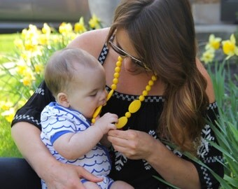 Silicone Teething Necklace - FREE SHIPPING SALE - Layered bead nursing necklace - Choose from lots of colors - Sensory teething toy