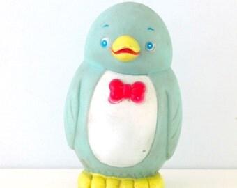 Vintage Stahlwood Rubber Penguin Toy