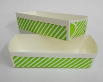 Paper Baking Pan, Paper Loaf Baking Pans, Green Rectangular Cake Pan, Homemade Food Gift, Birthday Party, Bridal Shower, Polka Dot Tray