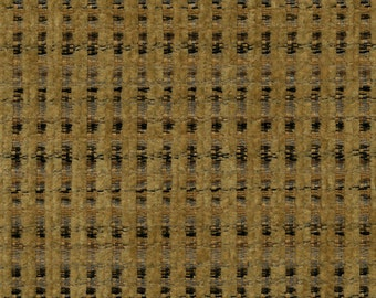 Woven Soft Striped Chenille Upholstery Fabric - Economical, Durable, Easy Clean - Color: Gable Nugget - Per yard
