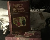 Beetlejuice Book Box 6in by 4in Handbook for the Recently Deceased Cover - Halloween Decor Oddity Storage
