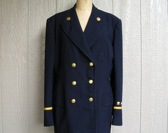 Vintage 50s BATTALION/DISTRICT CHIEF Firemans Dress Jacket