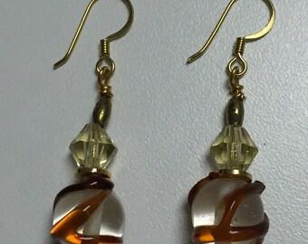 Caramel Swirl Earrings